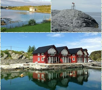 New lovely boathouse in Øygarden - 아파트