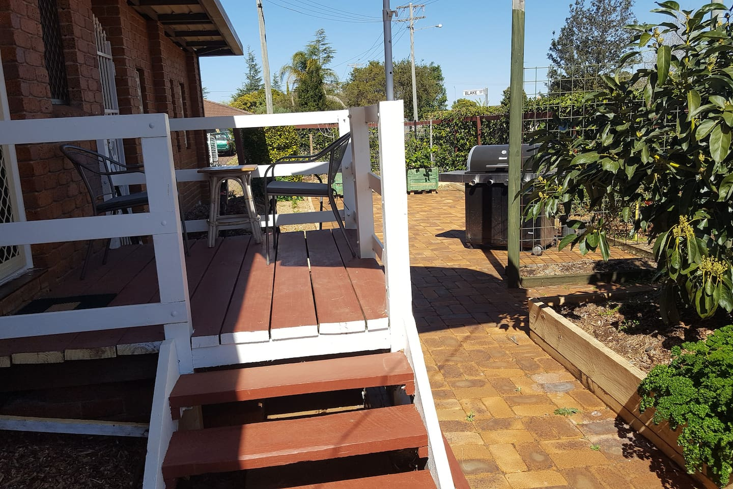 Private deck and bbq area
