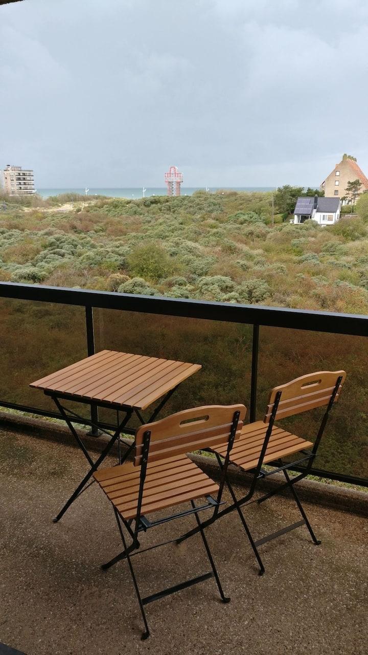 Mooi appartement te Koksijde met zicht op zee