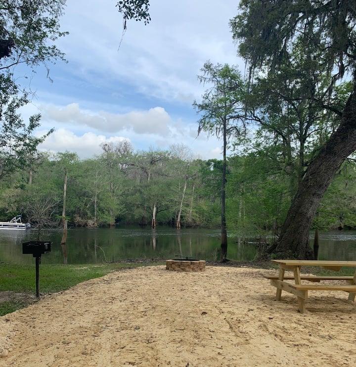 Peaceful Riverside Campsite
