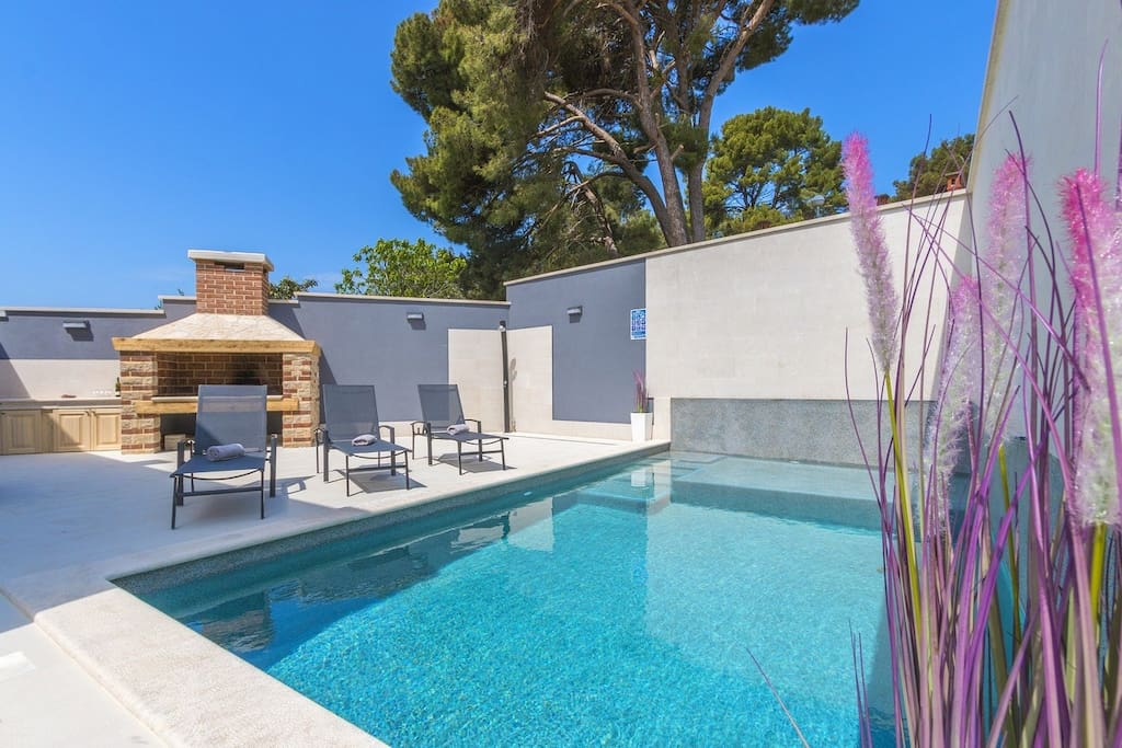 Yours only,  private pool with backyard, grill, parking