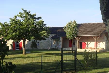 Grande maison de campagne - Lacaussade - Huis