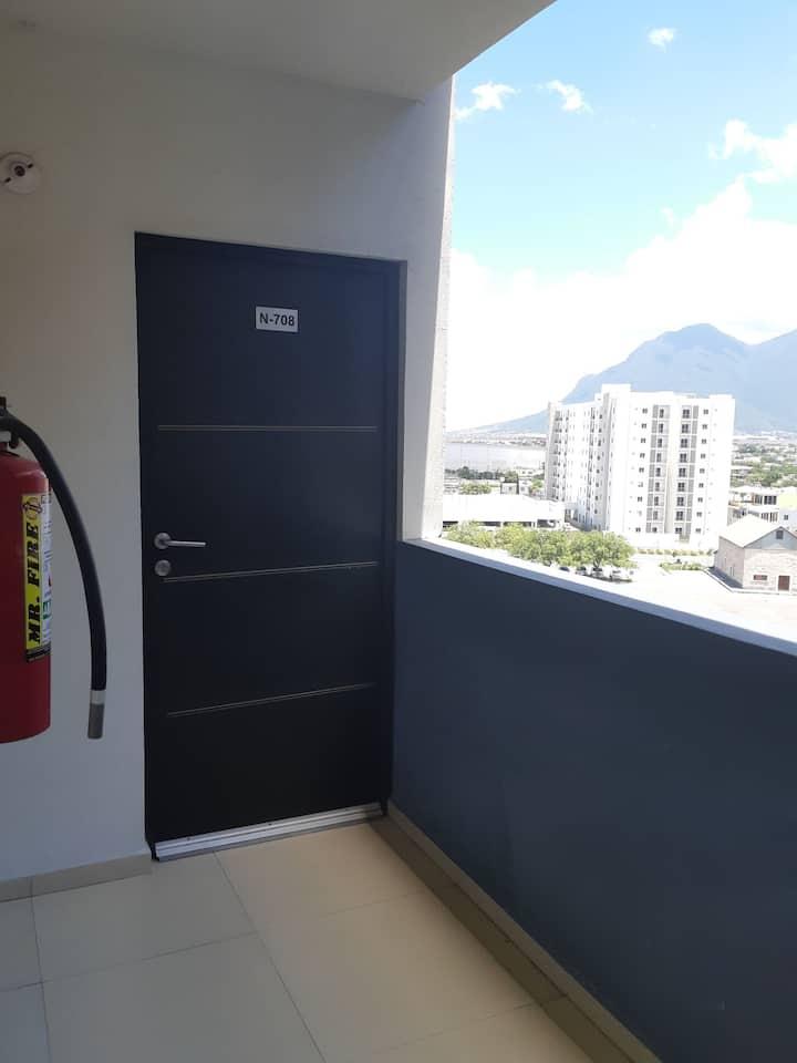 Habitación privada en el Centro de Monterrey