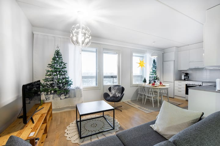 Modern apartment with sauna and private parking
