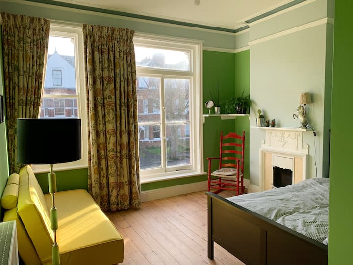 The green room! In large detached Victorian house