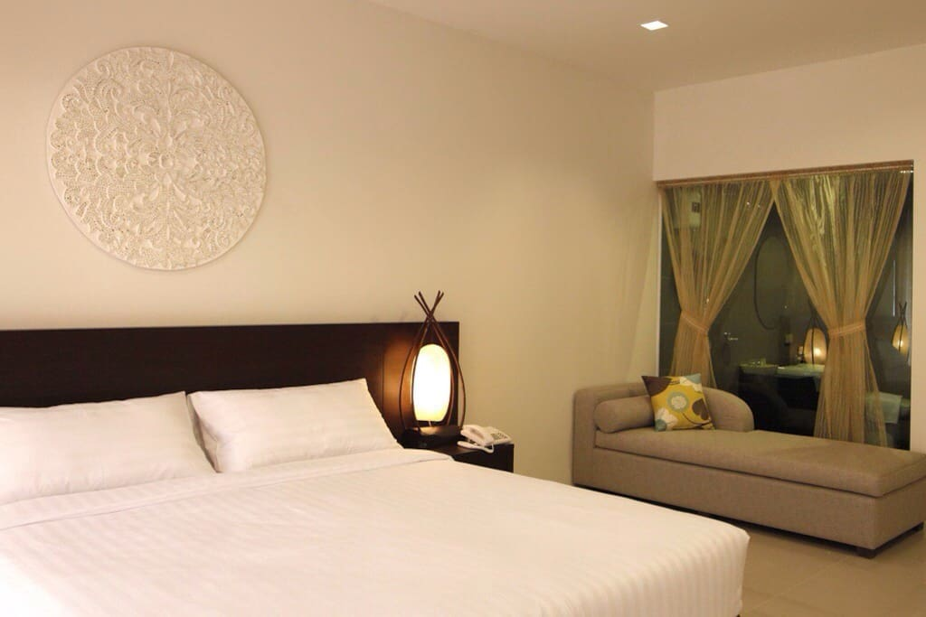Room is fully equipped with air conditioning, fridge, hair dryer, LCD TV, Satellite and Safe Box.