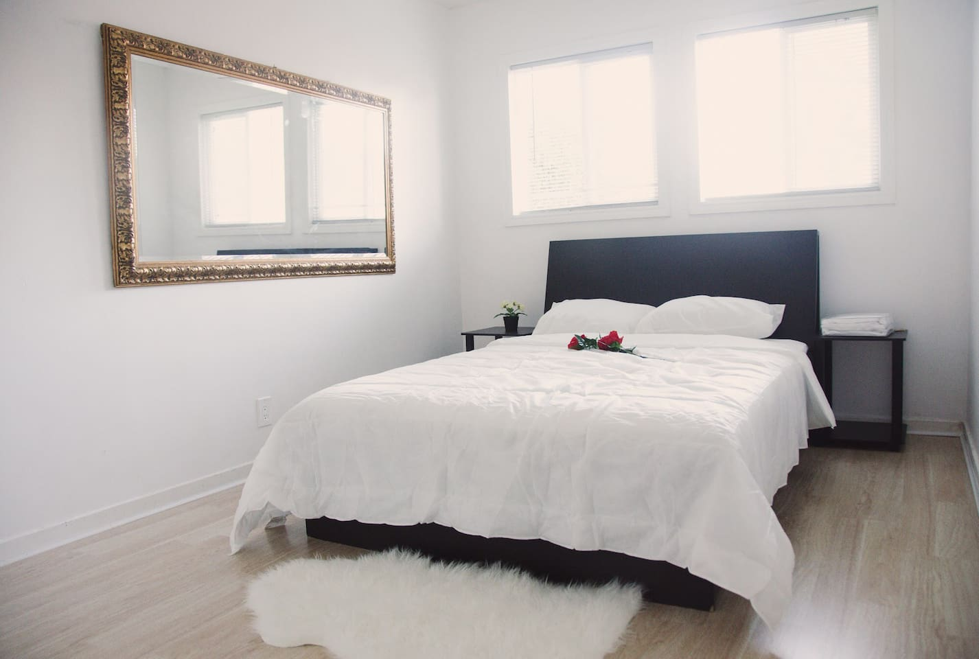 Enjoy a modern and elegant bedroom, with ample natural morning light for a gradual wake after a restful night's sleep.