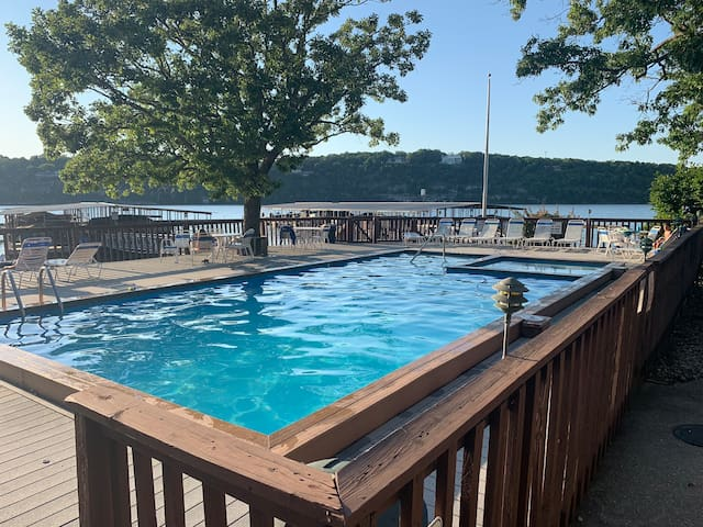 A Wonderful View with a pool and boat slip.