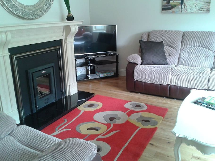 A lovely spacious comfy sitting room with channel tv, wi-fi  etc.