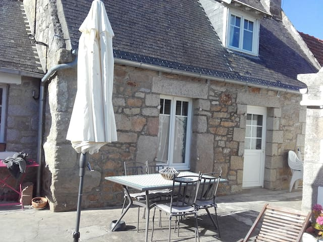 Maison de pêcheur sur île bretonne
