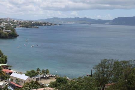 La Mer des Caraïbes depuis F2 cosy - Schoelcher - House