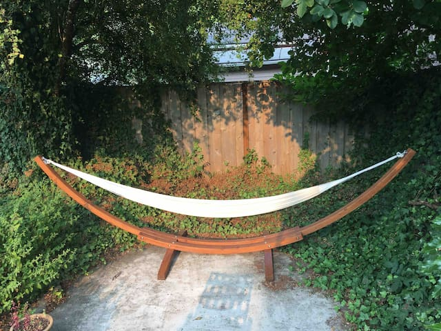 Hammock in Backyard Oasis Near Downtown