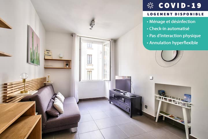 COSY STUDIO 100m TO THE BEACH - AIR CONDITIONER