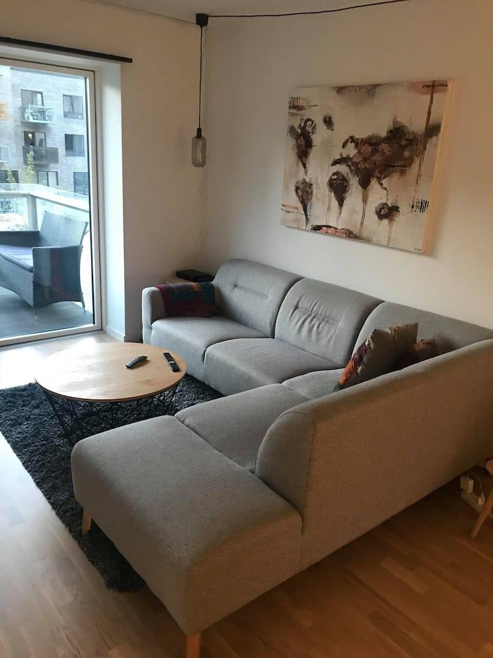 Lejlighed på Aarhus Ø (evt værelse)