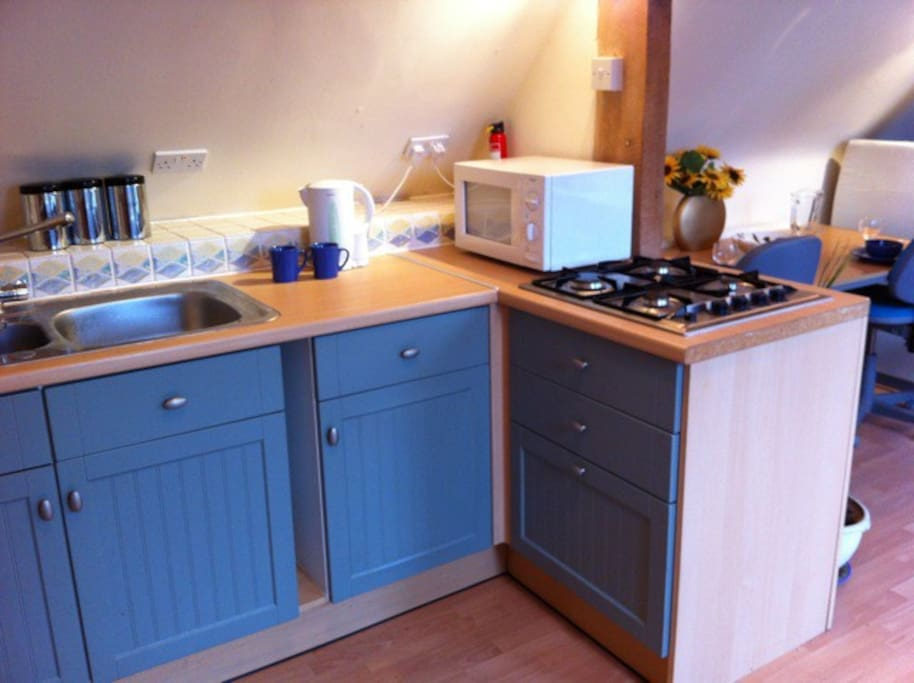 Well equipped if compact Kitchen, small but perfectly formed!