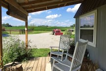 porch view // 100 acres