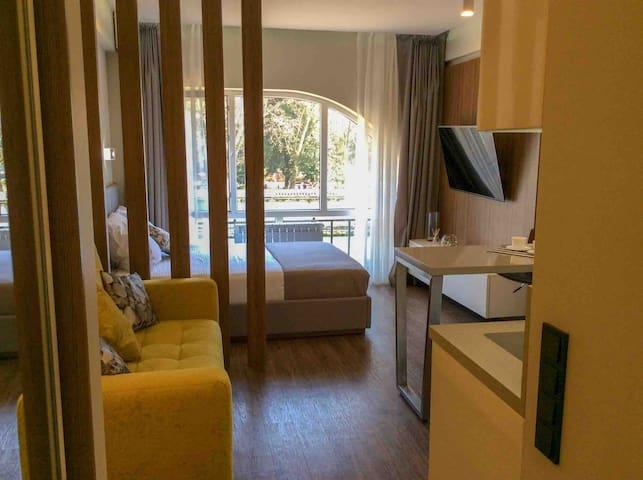 Уютные апартаменты Эмилия Gold 1, у парка Ривьера.