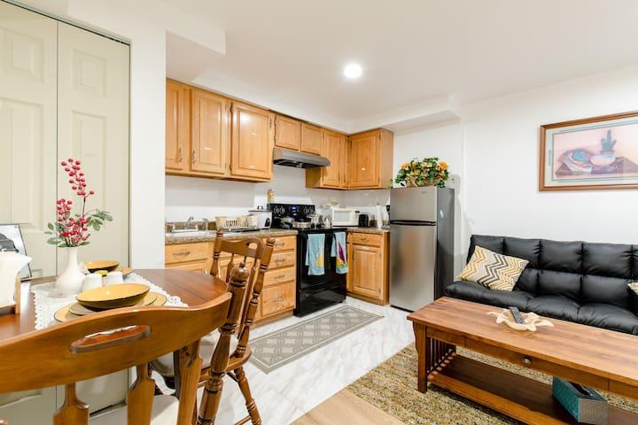 Cozy furnished  basement