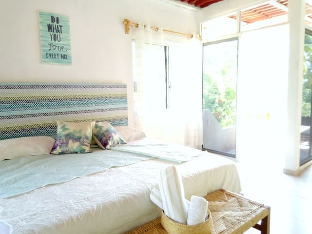 """Manila"" Loft, 100 meters from Zicatela Beach."