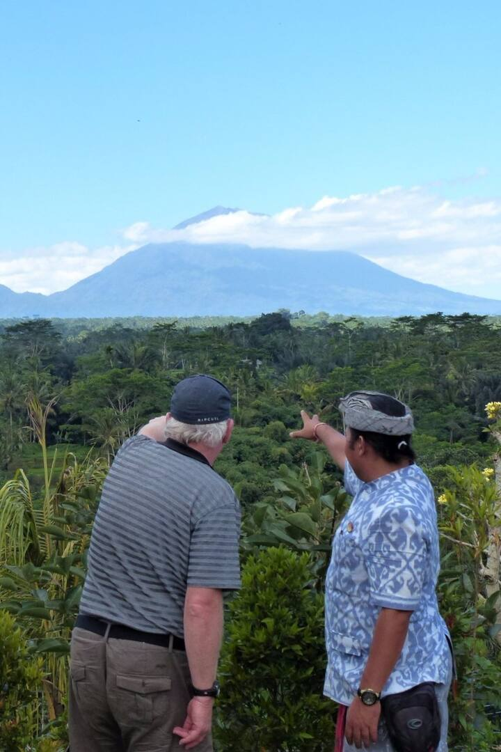 Mt Agung from the distance