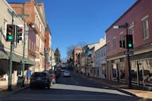 Staunton's award winning downtown can't be beat for shopping, eating, and entertainment, and it's only a couple minute's stroll away.