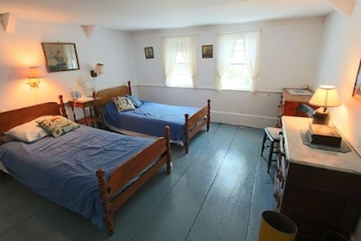 """Upstairs """"Captain's Room"""" - 2 single beds can be combined to form a King bed"""