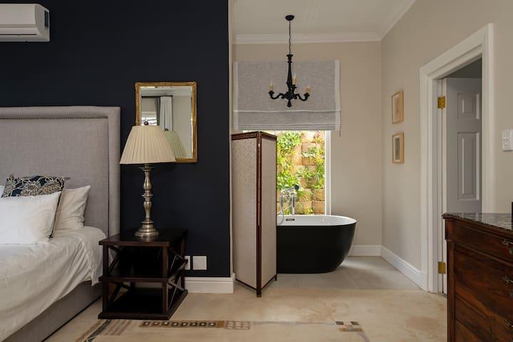 Enjoy a long soaking bubble bath