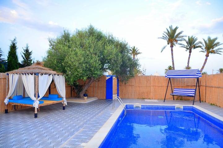 Villa El May, piscine privative située à Djerba