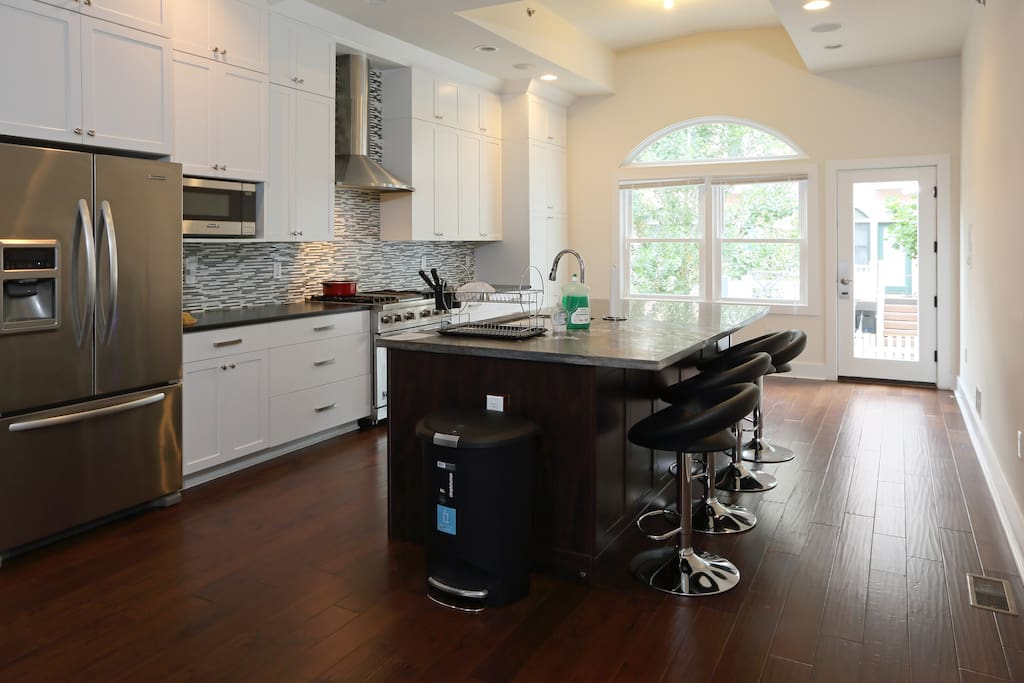 Kitchen with Island dining area