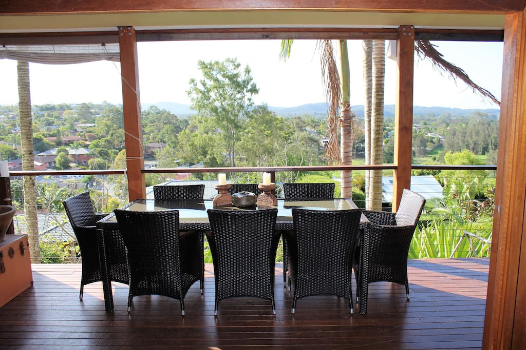 outside dining with view