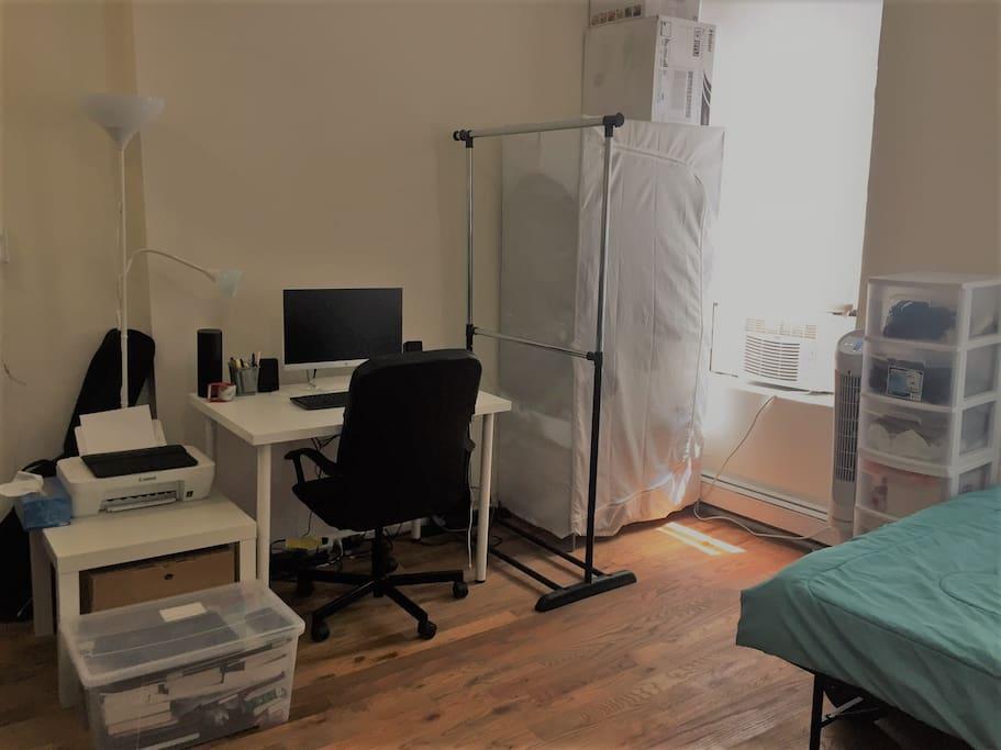 Desk, Closet
