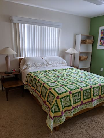 """Largest of the 3 bedrooms, """"the green room"""""""
