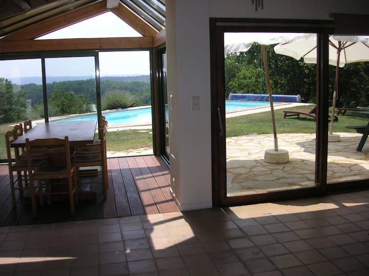 maison piscine privée