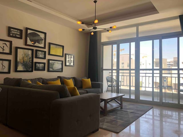 Lemon Spaces Renovated 2BR in Cairo Festival City