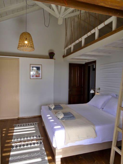 The master bedroom in the upper floor