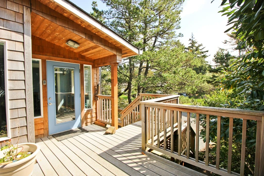 Deck entry into the house