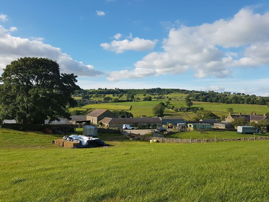 Our beautiful home and surrounding area..  you can see Gertrude middle, right, front.. she looks over the wonderful views.