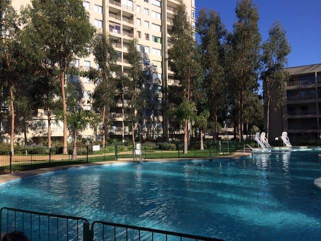 DEPARTAMENTO EN CONDOMINIO COSTA ALGARROBO NORTE - Algarrobo Norte - Apartment