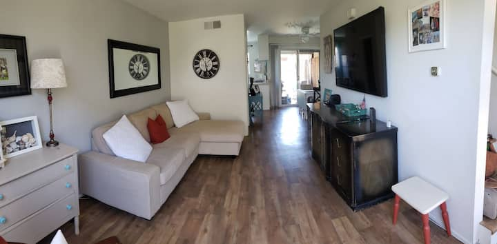 Large Private Furnished 1 Bedroom & 1.5 Bath