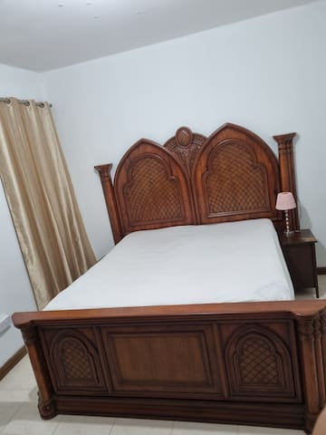 King Size Bed with cleaned and sanitized bed sheet, Pillow and Blanket