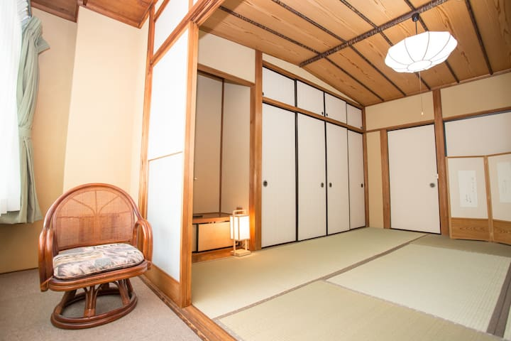 Japanese style private room with big bathroom.