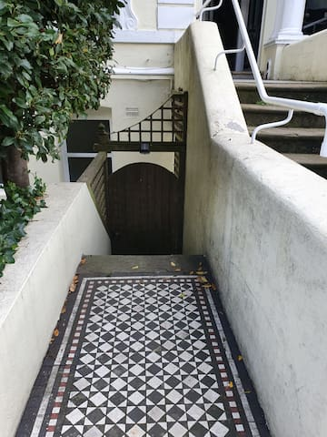 Private entrance to flat