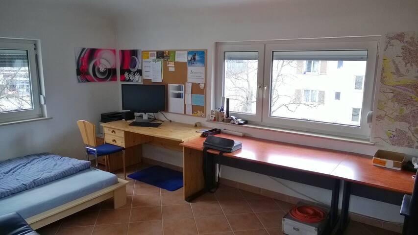 Zimmer mit PC-Arbeitsplatz und Fitnessstudio-Karte - Esslingen am Neckar - Byt