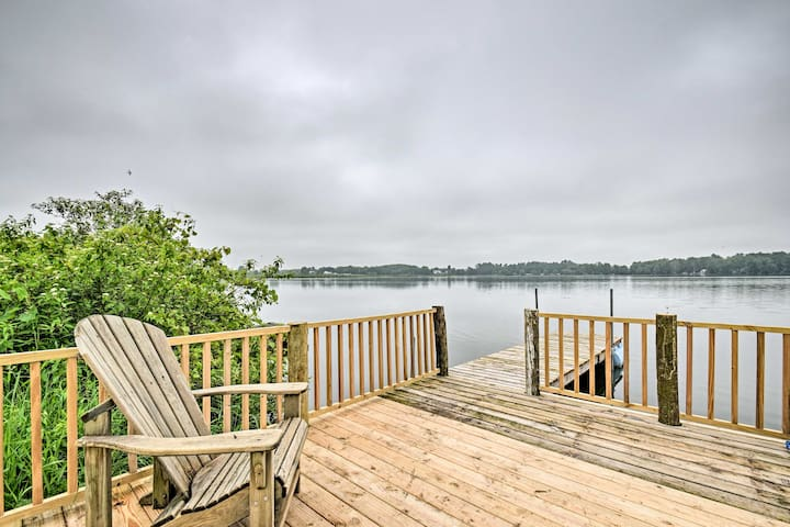 Enjoy relaxing on the private dock!