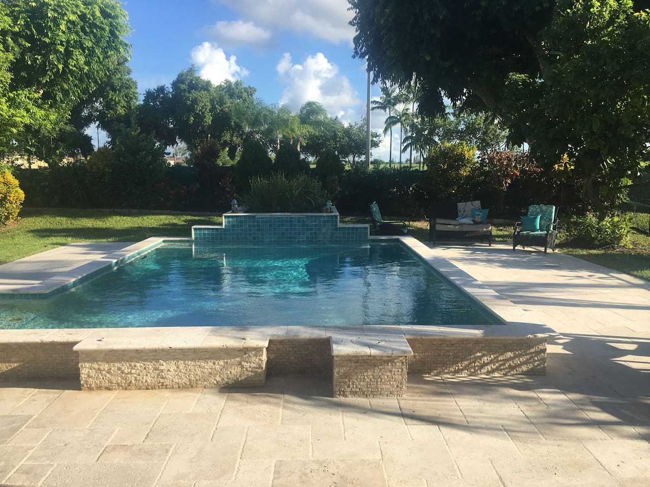 Private Pool at the back of the house