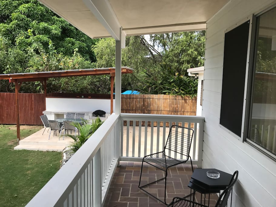 Outside Balcony & outdoor BBQ Area
