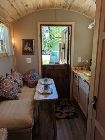 Dutch door adds fun to the fully equipped kitchenette