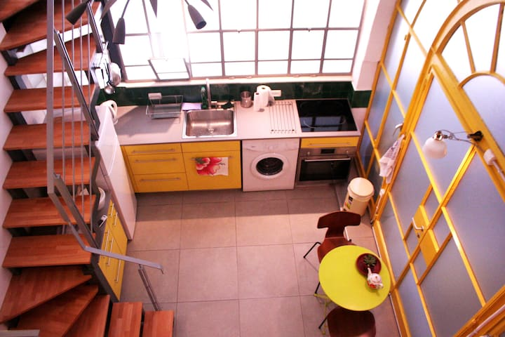 A colorful boutique studio apt in Jaffa - Tel Aviv-Yafo - Lägenhet