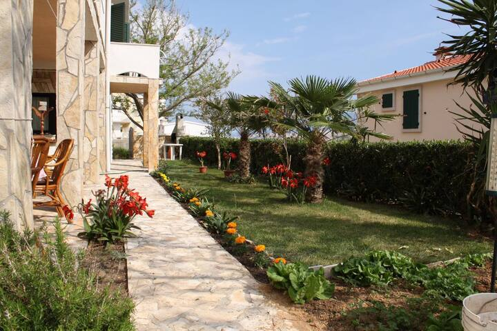 Studio flat with terrace and sea view Pag (AS-6326-b)