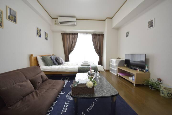 3minTenjin RelaxRoom for Trip&Business#6/fWiFi&kid